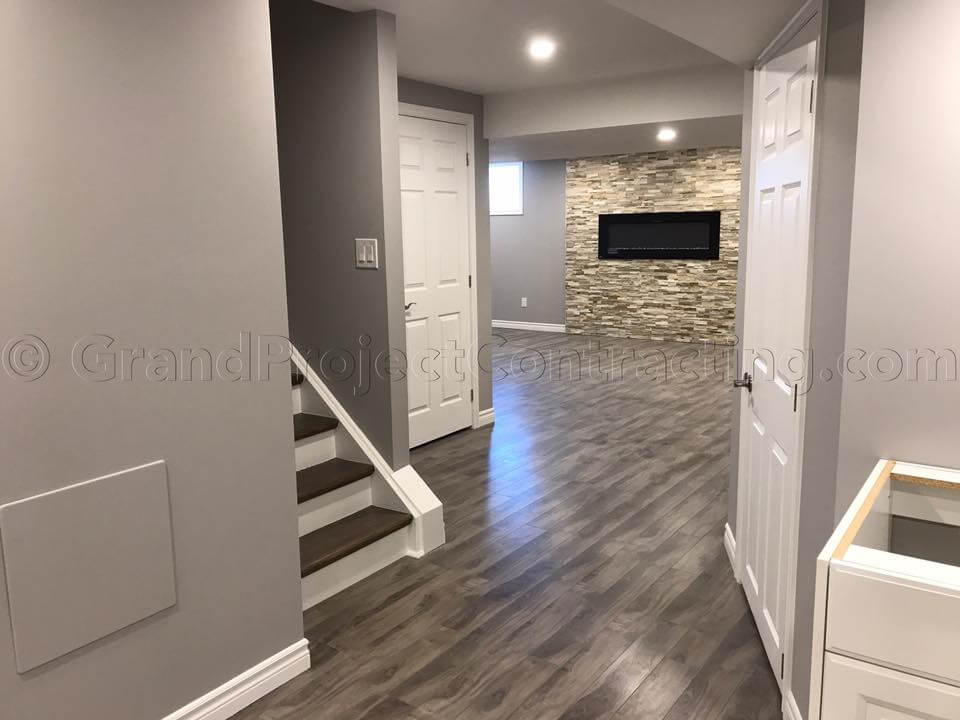 Finished basement milton basement finishing oakville for Finishing basement cost calculator