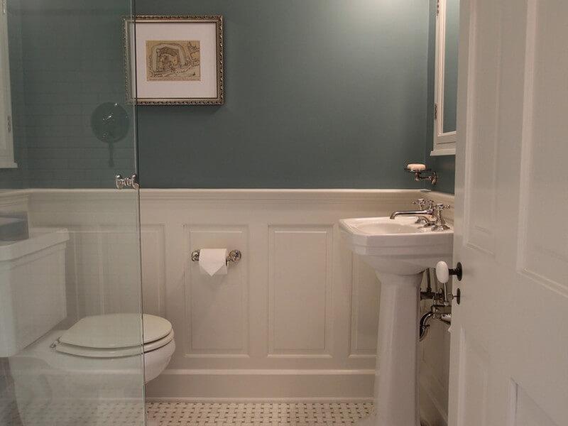 Tile Wainscot Bathroom Basement Finishing Oakville